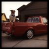 Chuck in the Caddy